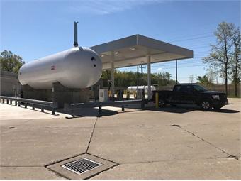 Laketran's newly opened propane autogas fueling station.