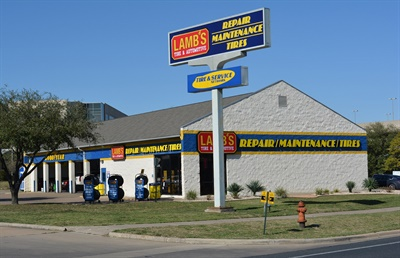 18 Lamb's Tire and Automotive stores are now a part of GB Auto Service Inc. The Lamb's Tire store in Lake Creek Parkway in Austin, Texas, is pictured.