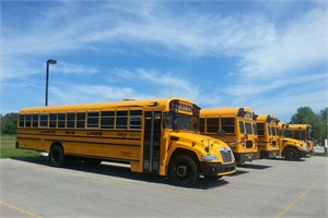 Lamers Bus Lines recently added 41 new Blue Bird Propane Vision school buses, expanding its propane fleet to 59 units. Photo courtesy of Blue Bird Corp.