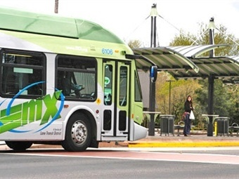 Eugene, Ore.-based Lane Transit District's Emerald Express (EmX) bus rapid transit system. Photo: Lane Transit District