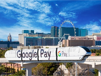 Each year during the Consumer Electronics Show (CES), Google sponsors several trains of the Las Vegas Monorail. The trains are emblazoned with eye-catching graphics.