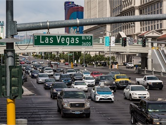 Cities like Las Vegas and many others around the world are using IoT technology to reduce vehicle congestion, optimize public transit routes, and increase safety. Photo: Tony Webster from San Francisco, Calif.