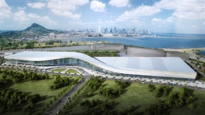 The Amador Convention Center in Panama offers views of the Panama Canal and city skyline.