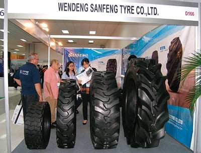 Chinese tire companies play a big part in the expo. Gus Lima designed the three-day show with them in mind, knowing tariffs on their products in the U.S. would make Latin America a prime market.