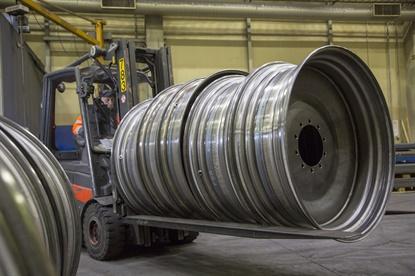 Heavy duty wheel maker Levypyörä prides itself in using eco-friendly processes in production.