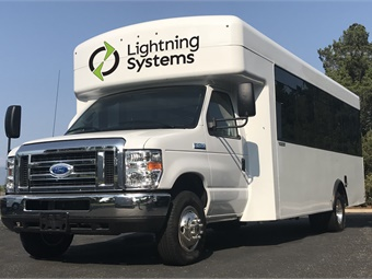 The new Lightning Systems model will have an electric range of 110 miles — depending on route and driver.