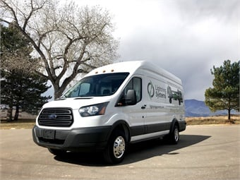 LightningElectric is available for the Ford Transit as part of Ford's eQVM program. The product, which went on sale earlier this year, is available for heavy-duty Ford Transits with a 10,360-pound gross vehicle weight rating.