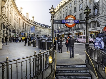 London's Picadilly Circus station