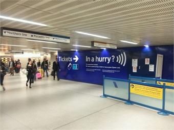 Ticketing halls in London Underground. Giles Bailey