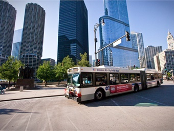 MPC's research finds that in 2017, 85% of all new business construction in the Chicago area occurred within one-half mile of a transit station.Photo via Chicago RTA