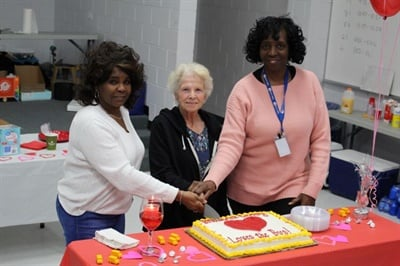 Pupil transporters who hit career milestones were honored at Brunswick County (N.C.) Schools, including three bus drivers — Willa Vernon, Rosemary Long, and Mae Simmons — each of whom has driven a bus for more than 30 years. Photo courtesy Daniel Seamans