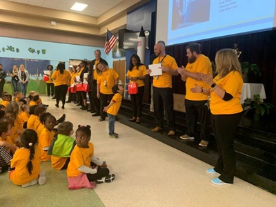 Rock Springs Elementary School students recognized their school bus drivers with gifts and certificates as part of Love the Bus. Photo courtesy National School Transportation Association