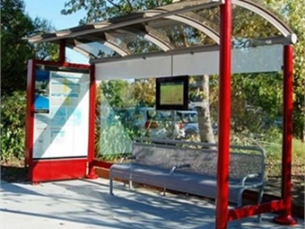 Luminator's shelter signs portfolio includes TFT, LCD, and low-power displays for use in any application- with or without a power grid present- for real-time passenger updates.