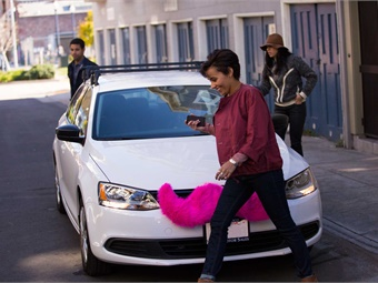 ITS doctoral student Anne E. Brown conducted a first-of-its-kind analysis of ridehail travel patterns, equity, and rider discrimination. Photo: Lyft