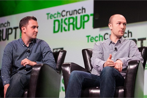 John Zimmer and Logan Green, co-founders of Lyft.