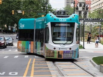 Detroit's QLine in particular came about due to the perseverance of a private group of business leaders who continually advocated for the project. Photo credit: Dan Poyourow, courtesy of HNTB