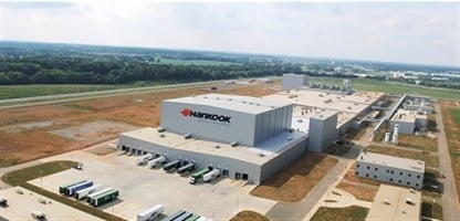 Hankook's plant in Tennessee can produce 13,900 consumer tires per day at full capacity, according to MTD research.