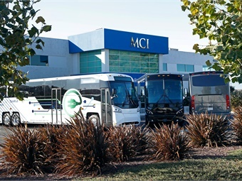 The Hayward location, one of MCI's busiest serving Bay Area's growing Silicon Valley employee shuttle operations, public transit agencies, and dozens of tour and charter companies, featured a demonstration of MCI's move into all-electric transit at the symposium. (Photo: MCI)