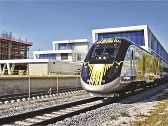 The Brightline trains that now serve the downtown areas of Miami, Fort Lauderdale, and West Palm Beach would extend to Orlando, Tampa, and even Disney World.
