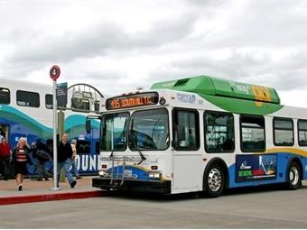 Pierce Transit buses have a Wi-Fi range of approximately 100 feet. Pierce Transit