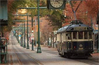 MATA's vintage trolley rail system is currently suspended to undergo extended maintenance on all trolley cars. Courtesy MATA