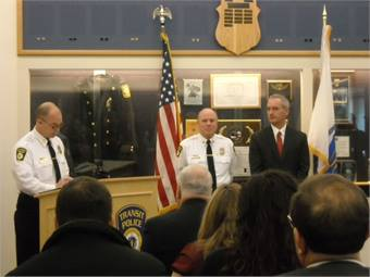 Conductor John Slyman was honored for helping the MBTA uncover a multi-million dollar fare pass fraud ring.