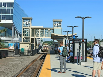 MBTA's new Landing Station. Photo courtesy STV