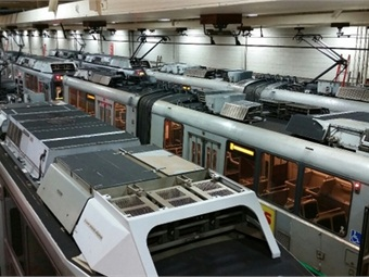 The MBTA works to put as many Green line trains as possible in car houses overnight to keep them warm and out of the elements.