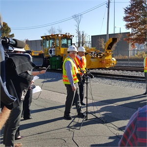 Photo of snow fighting equipment shown during Nov. 4 press event. Keolis