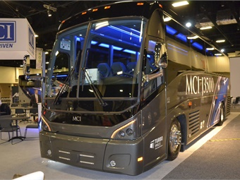 MCI showcased all of its latest vehicles, including