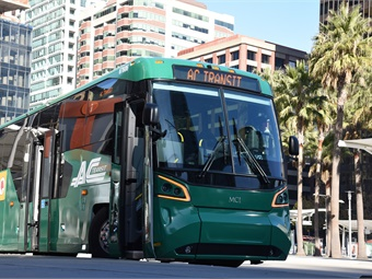 ADA- and Buy America-compliant, the Altoona-tested next generation MCI D45 CRT LE Commuter Coach was designed through consultation with leading advocacy groups.MCI