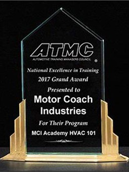 Scott Crawford, MCI Technical Training Manager, will accept the award on Nov. 1 at the ATMC reception, coinciding with Automotive Aftermarket Industry Week (AAIW 2017) in Las Vegas.