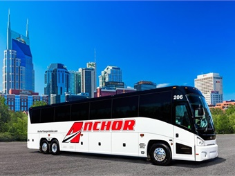 Based in Nashville, Anchor recently inaugurated the J4500 model into its fleet, adding a total of 13 amenity-filled J4500s over the past two years.MCI