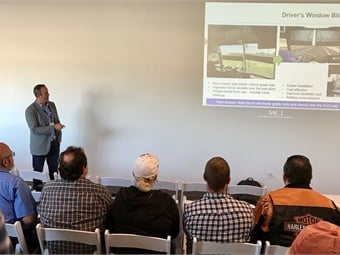 MCI's Brent Maitland gave a presentation to operators about the company's services and product updates. Photo: METRO Magazine