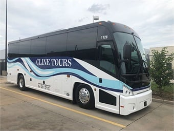 Cline's new J3500 coaches are built to the exact same specifications as its J4500 models.