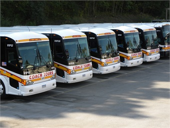 The first quarter sales numbers were dominated once again by companies purchasing large 45-foot new motorcoaches.