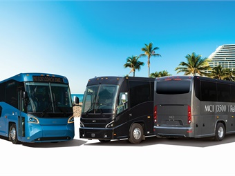 At Booth 522 at UMA Expo MCI will be showcasing its new 2019 J4500 and shorter J3500 coach next to its all-accessible MCI D45 CRT LE designed for Commuter Rapid Transit featuring its breakthrough patented Low Entry (LE) Vestibule.