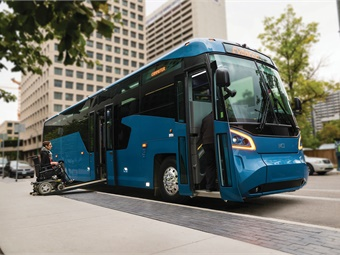 ADA and Buy America compliant and Altoona tested, MCI's next-generation Commuter Coach has a patented low-entry vestibule featuring an automated retractable ramp.