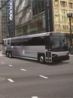 Each new coach is powered by the Low NOx Cummins ISX12N natural gas engine, certified to the California Air Resources Board, along with having 90% fewer NOx emissions than the current North American EPA standard. MCI