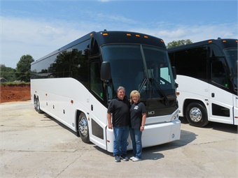 First Class started in 2007 when Owner Bill Adams partnered with his wife, Jimmie Ann, and leased a pre-owned coach and began charters for local banks offering tour and travel adventures for its clients