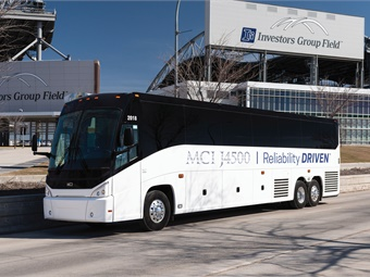 Motor Coach Industries (MCI) received a 19-coach J4500 order from Dallas-based passenger transportation services provider, MV Transportation.