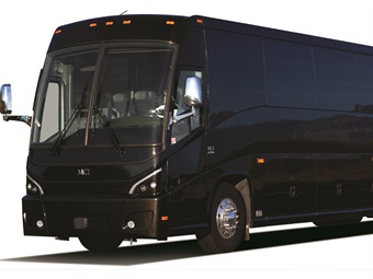 The Livery Edition MCI J4500 coaches are sleek and elegant in resplendent black on the outside and a complete luxury experience on the inside.MCI