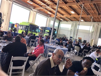 Attendees of the grand opening of the Hayward facility were treated to lunch and the chance to look over equipment and meet with sub-suppliers. Photo: METRO Magazine