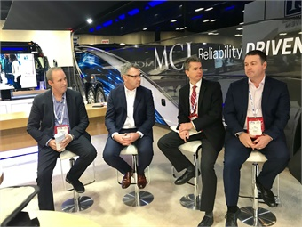 MCI's Brent Maitland, Patrick Scully, NFI's Brian Dewsnup, and MCI's Ian Smart (shown left to right) talked about new company developments. Photo: METRO Magazine