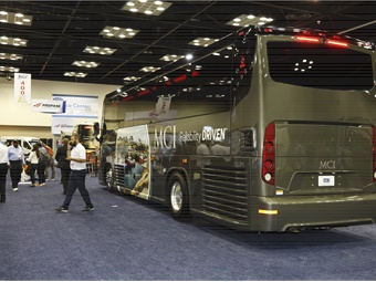 MCI showcased its J3500 motorcoach on the BusCon show floor.