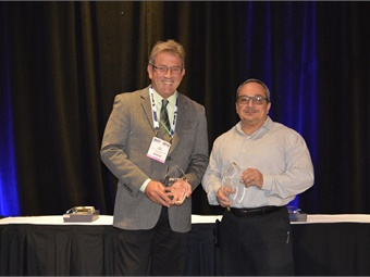 DART's Michael Hubbell and Big Blue Bus' Getty Modica won METRO's inaugural Maintenance Director of the Year Awards.