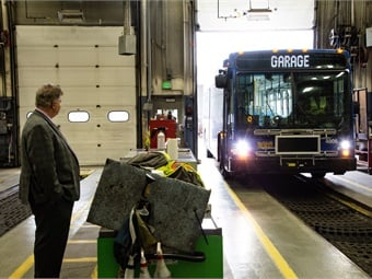Winning in the 501-vehicles-and-over category, Ed Bennett, director of bus maintenance, oversees three bus maintenance facilities and a fleet of about 719 buses.