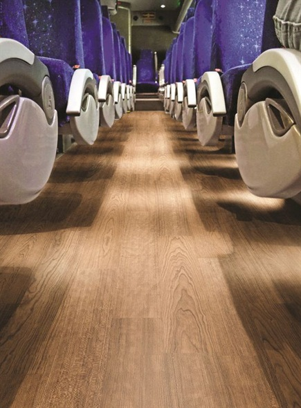 Altro Transflor Wood Safety Flooring Product Bus Metro