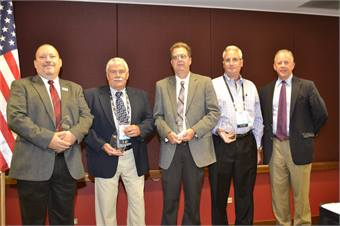 PERC's Tucker Perkins (far right) presented awards to the top five propane autogas users for their commitment to the environment.