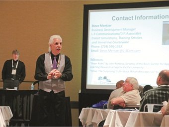 This year's BusCon featured informative sessions, including Louie Maiello's talk on safety.
